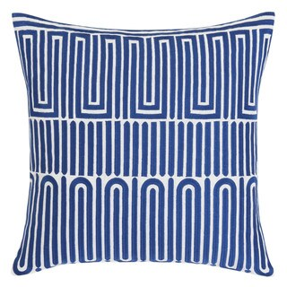 Trina Turk Racket Club Geo Blue Throw Pillow