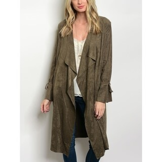 JED Women's Vegan Suede Long Cardigan