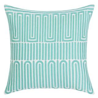 Trina Turk Racket Club Geo Aqua Throw Pillow