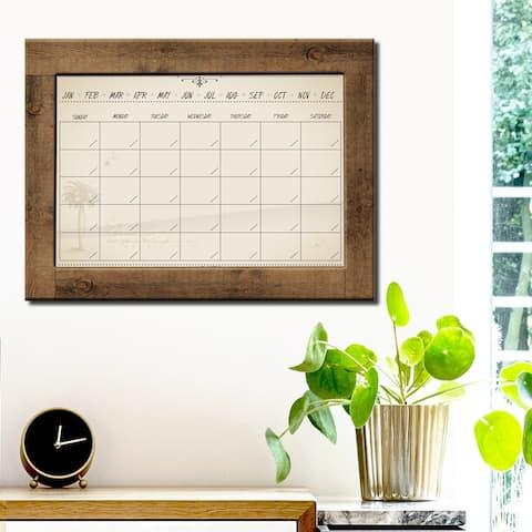 R2H Methods 'Natural' Dry Erase Monthly Calendar on ArtPlexi