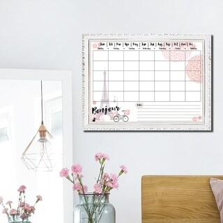 R2H Methods 'Bonjour' Dry Erase Monthly Calendar on ArtPlexi - Pink/White