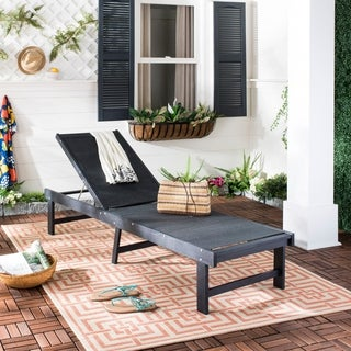 Safavieh Manteca Dark Slate Grey/ Black Lounge Chair