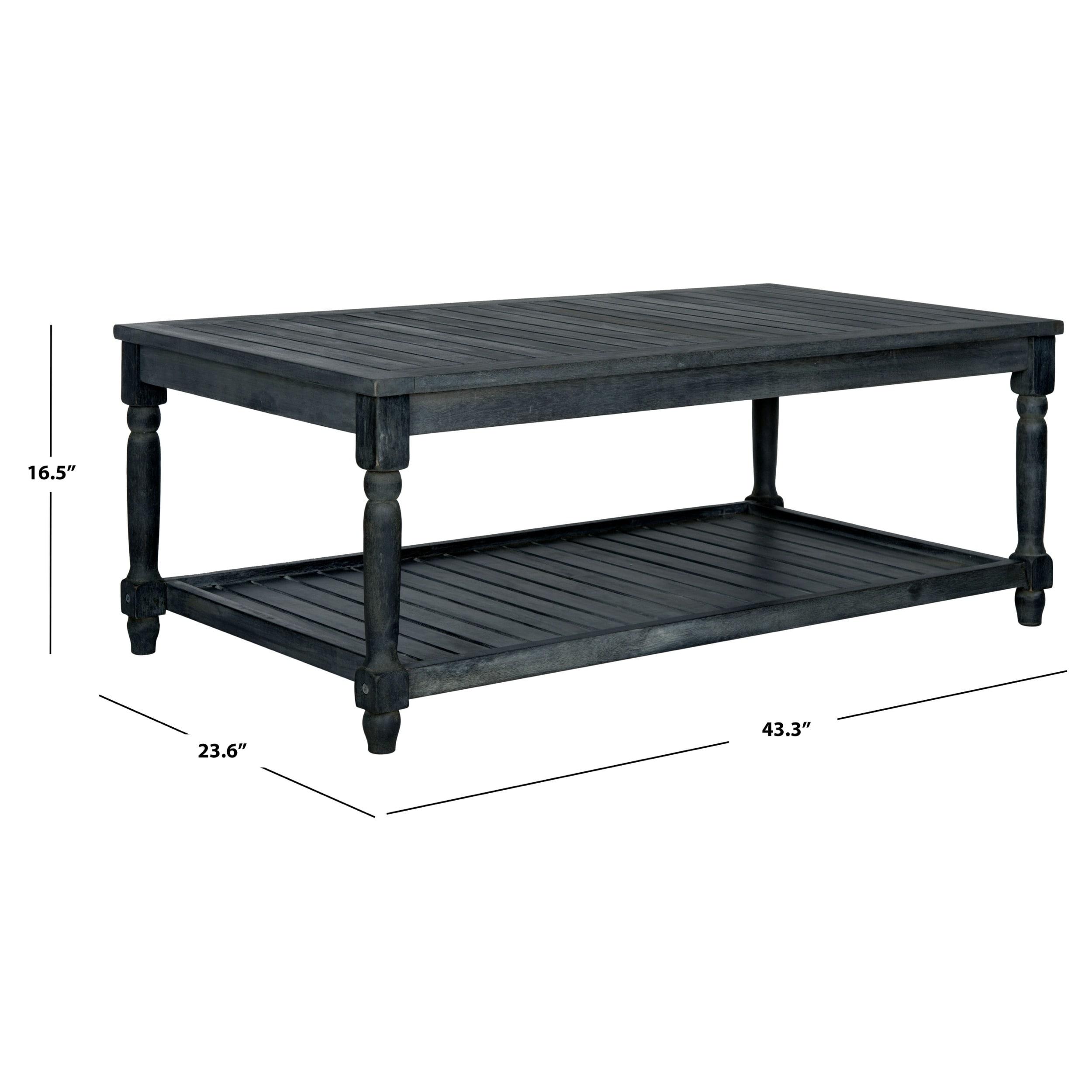 Magnificent Safavieh Oakley Dark Slate Grey Coffee Table 43 3 X 23 6 X 16 5 Machost Co Dining Chair Design Ideas Machostcouk