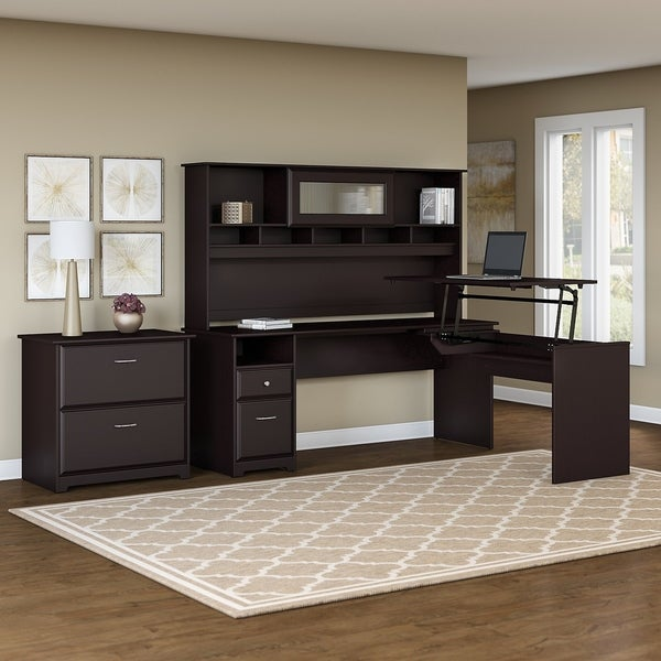 Shop Copper Grove Busiek L Shaped Sit To Stand Desk With