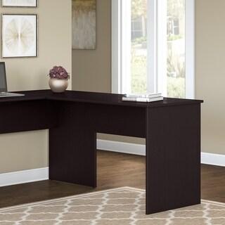 Bush Furniture Cabot 42W Shell Desk Return in Espresso Oak