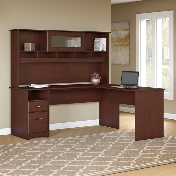 Shop Bush Furniture Cabot 72w L Shaped Computer Desk With