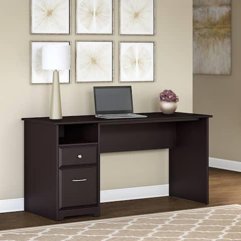 Copper Grove Daintree 60W Computer Desk with Drawers in Espresso Oak