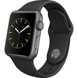 Apple Watch A1554, Series 1, 42MM Space Gray/Black Rubber- Refurbished