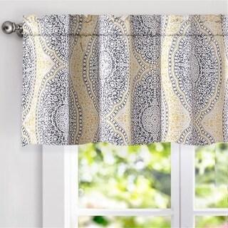 "DriftAway Adrianne Damask Window Curtain valance, 52"" wide x 18"" long"