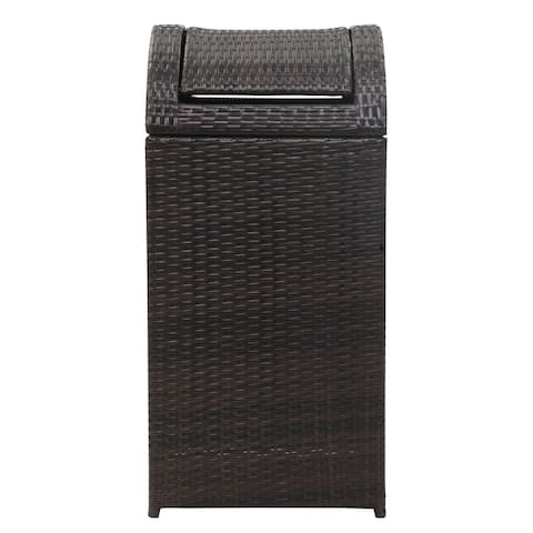 Safavieh Bishop Wicker Brown Trash Bin
