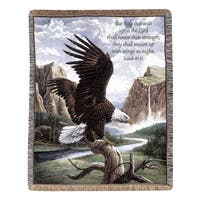 Manual Woodworkers Freedom Eagle Tapestry Throw