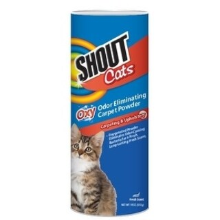 2-Pack Shout for Pets Turbo Oxy Carpet Odor Eliminator Powder for Cats