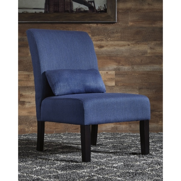 Shop Signature Design By Ashley Sesto Blue Accent Chair