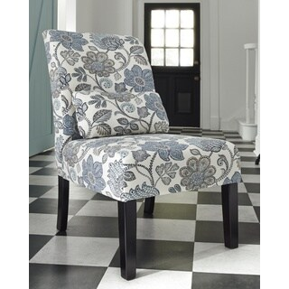 Signature Design by Ashley Sesto Cream/Blue Floral Accent Chair