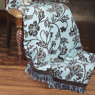 Manual Woodworkers The Chocolate Blues Woven Tapestry Throw