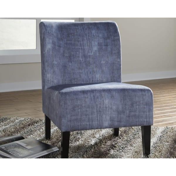 Excellent Shop Triptis Casual Blue Accent Chair Free Shipping Today Machost Co Dining Chair Design Ideas Machostcouk