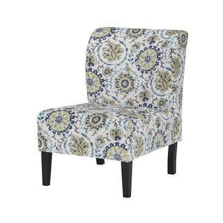 Signature Design by Ashley Triptis Blue/Green Suzani Accent Chair