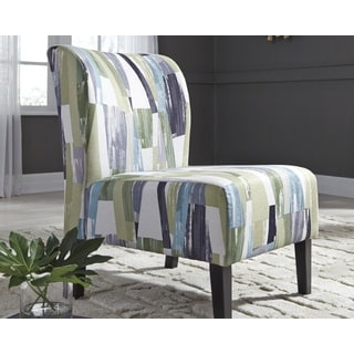 Triptis Geometric Pattern Blue/Green Contemporary Accent Chair