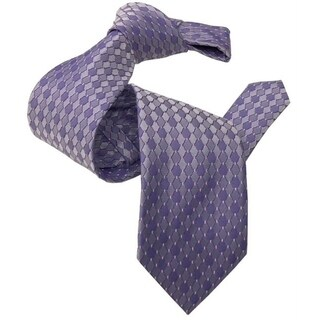 DMITRY Light Purple Patterned Italian Silk Tie