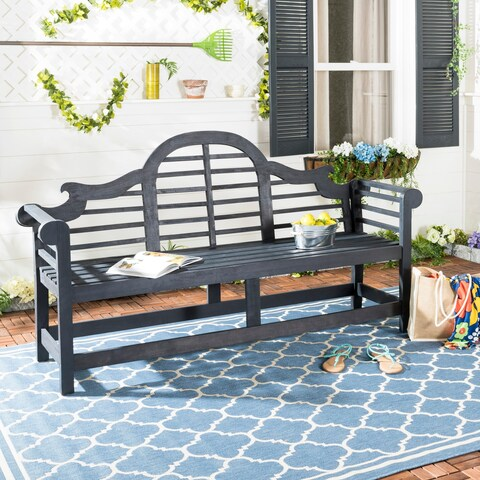 Safavieh Khara Dark Grey Acacia Bench