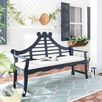Safavieh Azusa Dark Slate Grey/ Beige Bench