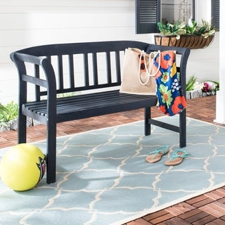 Safavieh Porterville Dark Slate Grey 2-seat Bench