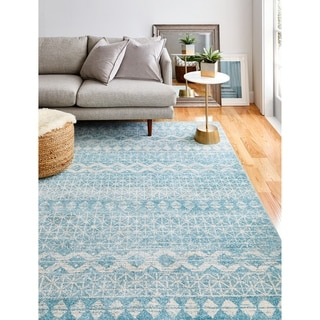 "Nailah Aqua Transitional  Area Rug - 3'6"" x 5'6"""