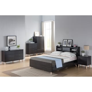 Link to Basil Contemporary Cappuccino Platform Storage Bed with Headboard Similar Items in Kids' & Toddler Furniture