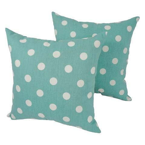 Polka Dot 17-inch Indoor/Outdoor Throw Pillow (Set of 4)