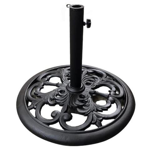 TropiShade Cast Iron Umbrella Base, Black