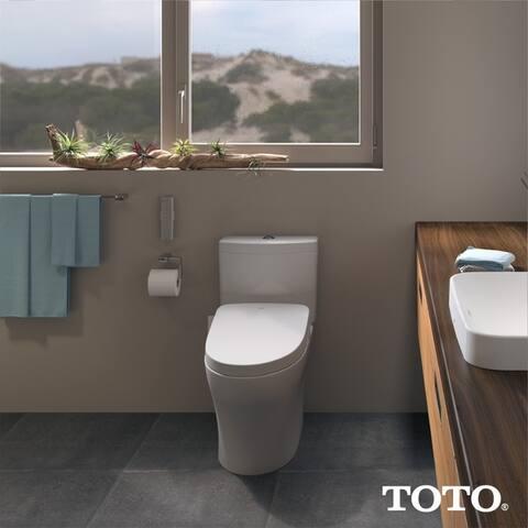 Toto WASHLET S550e Electronic Bidet Toilet Seat with EWATER+ and Auto Open, Elongated, Cotton White (SW3056#01)