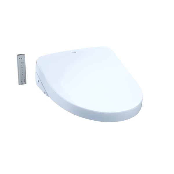 WASHLET S550e Elongated Bidet Toilet Seat with ewater+ and Auto Open and Close Contemporary Lid, Cotton White - SW3056#01
