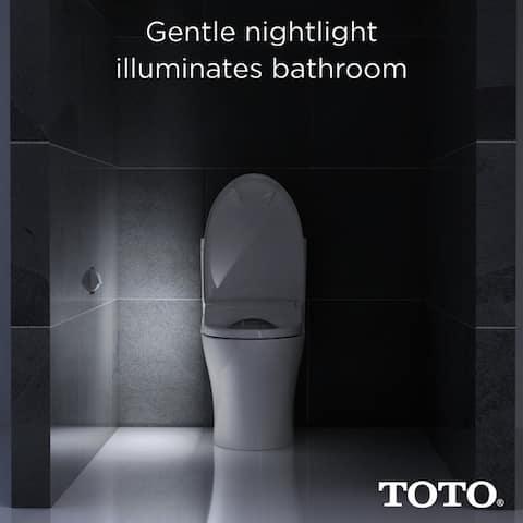 Toto WASHLET S550e Electronic Bidet Toilet Seat with EWATER+ and Auto Open, Elongated, Cotton White (SW3054#01)