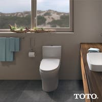 WASHLET S500e Elongated Bidet Toilet Seat with ewater+ and Contemporary Lid, Cotton White - SW3046#01