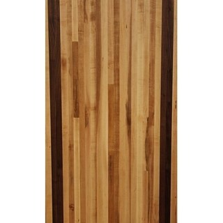 "Forever Joint Maple/Walnut Mix 1-1/2"" x 26"" x 60"" Butcher Block Wood Counter Top"