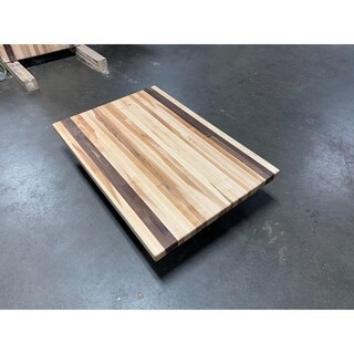 "Forever Joint Maple/Walnut Mix 1-1/2"" x 26"" x 50"" Butcher Block Wood Counter Top"