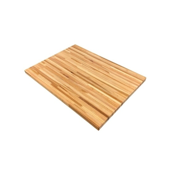"""Forever Joint Hickory 1-1/2"""" x 26"""" x 60"""" Butcher Block Counter Top. Opens flyout."""