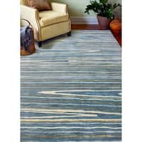 "Alison Azure Contemporary  Area Rug - 8'6"" x 11'6"""