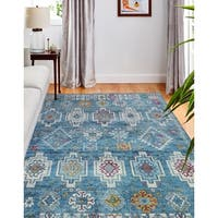 "Gilbert Blue Transitional  Area Rug - 7'6"" x 9'6"""