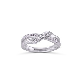 Sterling Silver 1/5cttw Diamond Ring - White
