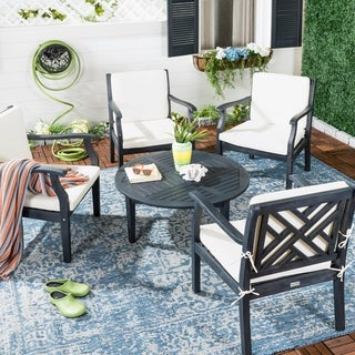 Safavieh Outdoor Living Anaheim Dark Slate Grey Coffee Set