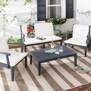 Shop Safavieh Outdoor Living Bradbury Brown Acacia Wood 4 ... on Safavieh Outdoor Living Montez 4 Piece Set id=67836