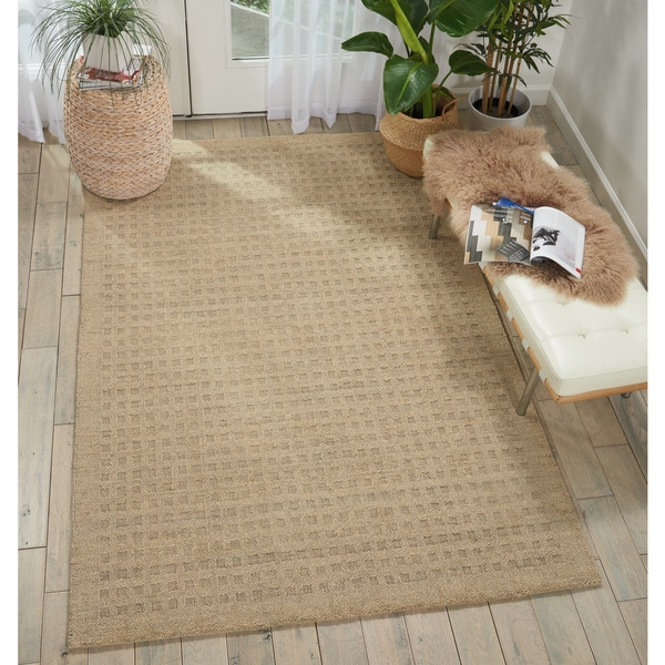 """Nourison Perris Hand Woven Taupe Area Rug - 8' x 10'6"""""""
