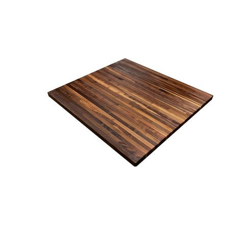 "Forever Joint Walnut 1-1/2"" x 30"" x 36"" Butcher Block Wood Side Table Top"