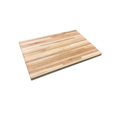 "Forever Joint Hard Maple 1-1/2"" x 30"" x 36"" Butcher Block Wood Coffee Table Top"