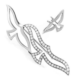 Cartier Women's White Gold Diamond Bird Brooch