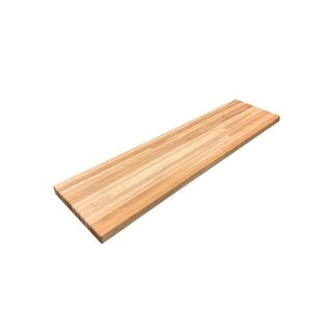 "Forever Joint Hard Maple 1-1/2"" X 12"" x 96"" Butcher Block Wood Shelf"