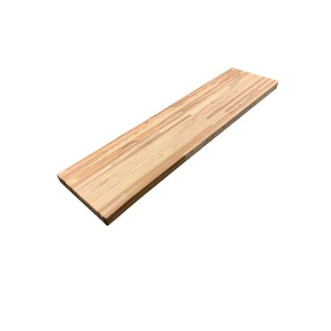 """Forever Joint Hickory 1-1/2"""" X 12"""" x 48"""" Butcher Block Wood Shelf"""