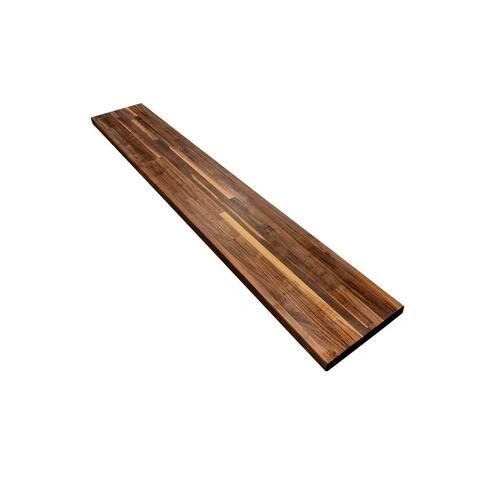 "Forever Joint Walnut 1-1/2"" X 12"" x 48"" Butcher Block Wood Shelf"