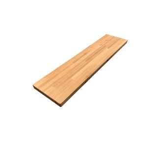 "Forever Joint Red Oak 1-1/2"" X 12"" x 96"" Butcher Block Wood Shelf"
